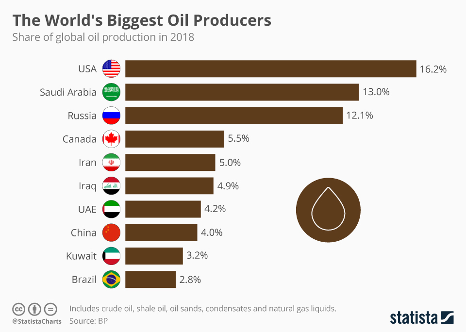 the largest oil producer in the world