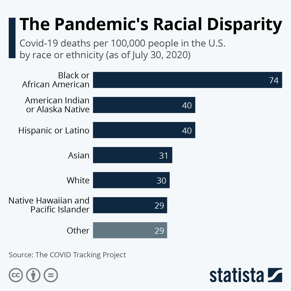 Chart The Pandemic S Racial Disparity Statista