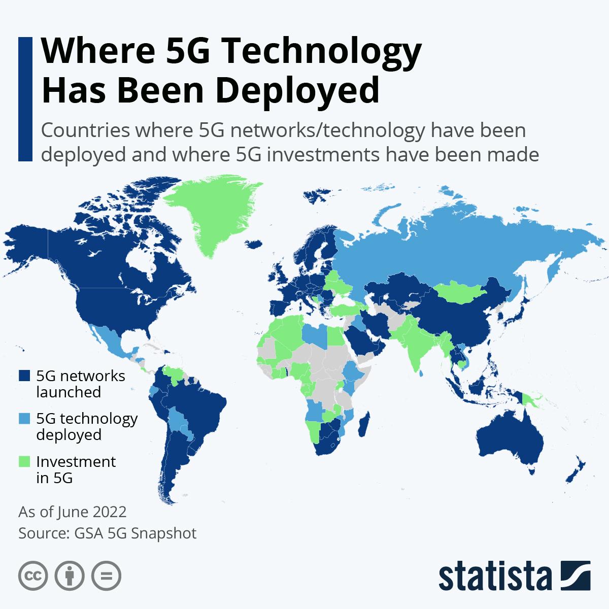 Chart: Where 5G Technology Has Been Deployed | Statista