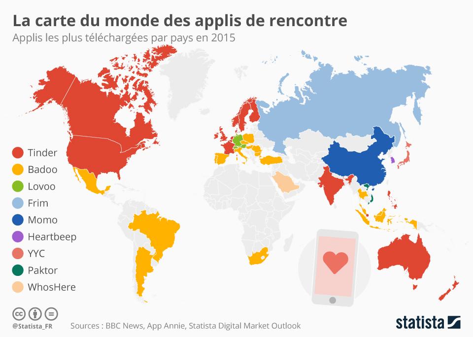 nombre de site de rencontre dans le monde