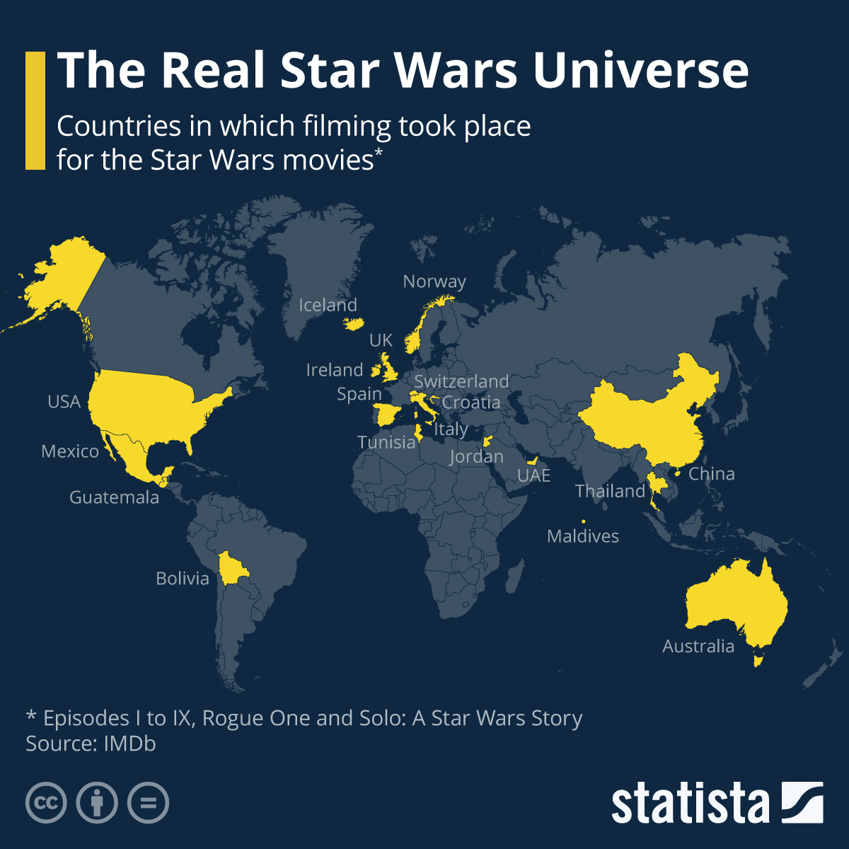star wars world map Chart The Real Star Wars Universe Statista