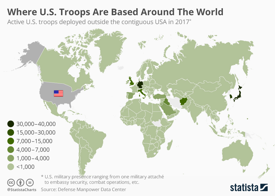 Chart: Where U.S. Troops Are Based Around The World   Statista