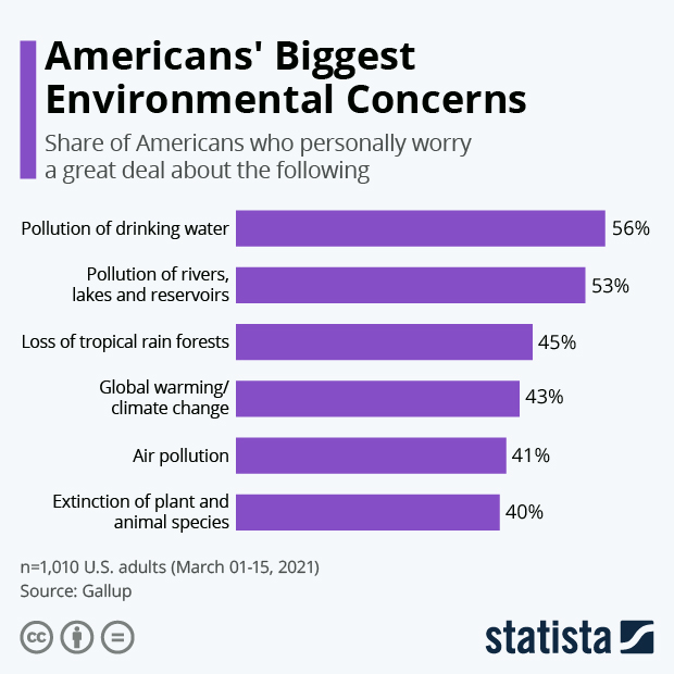 Americans' Biggest Environmental Concerns - Infographic