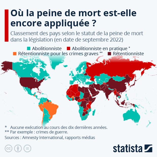 Peine de mort : quels pays l'appliquent encore ? - Infographie