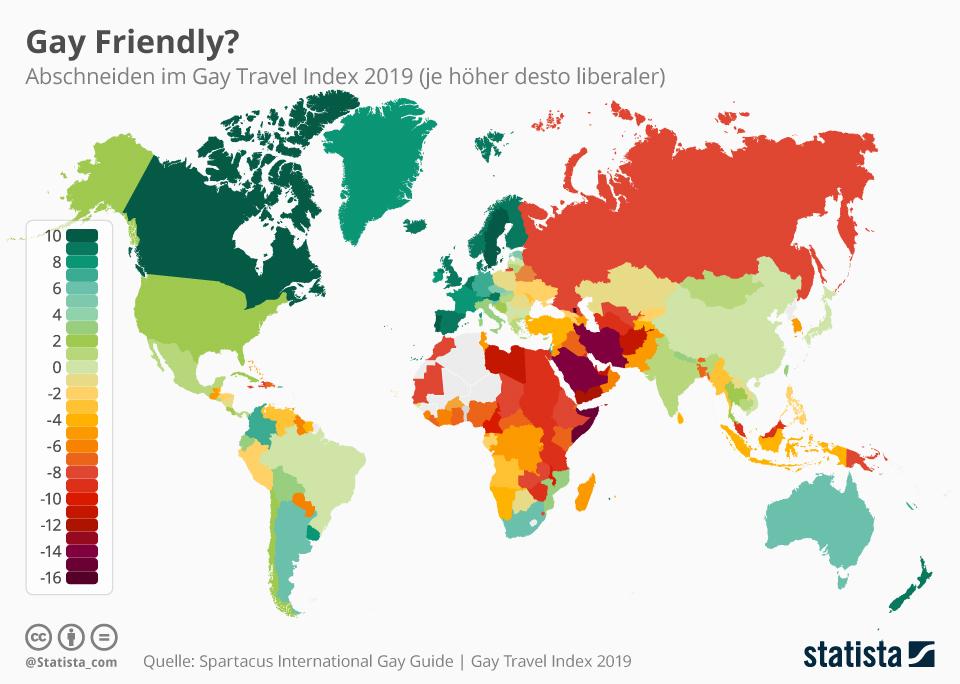Infografik: So (un)sicher ist Reisen für Homosexuelle   Statista