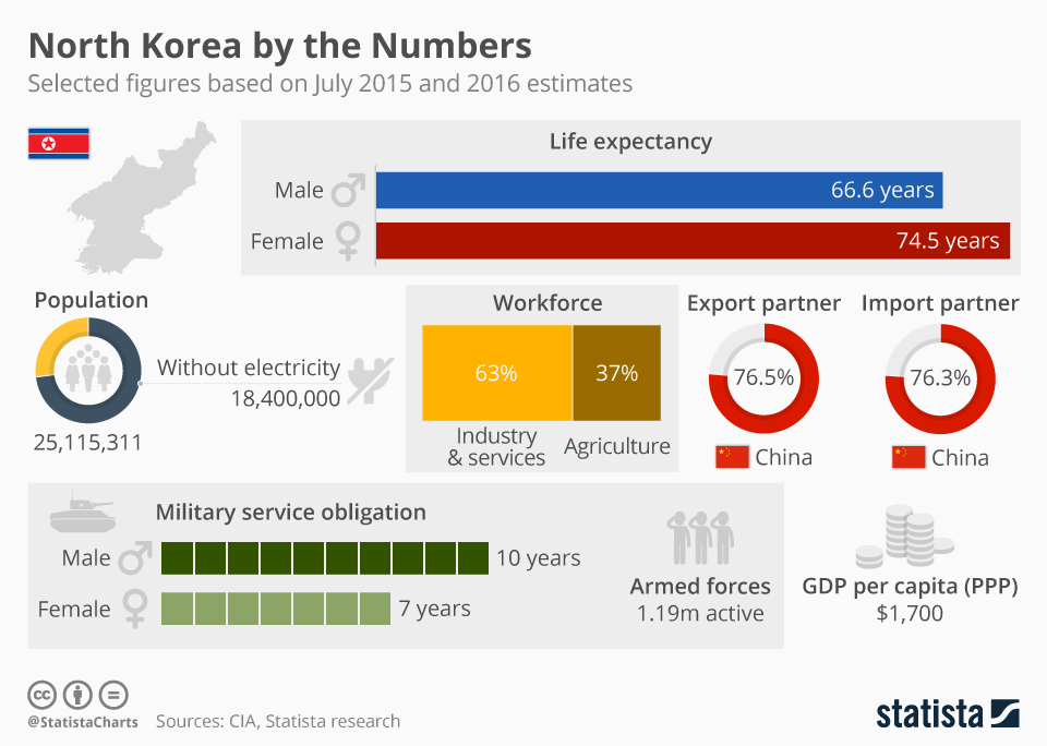 Infographic: North Korea by the Numbers | Statista