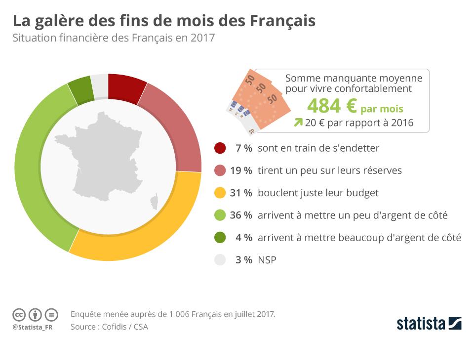 Infographie: La galère des fins de mois des Français   Statista