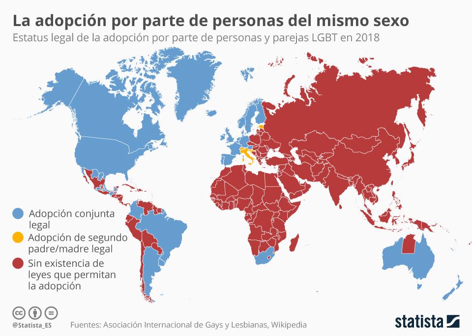 Infografía: África y Asia, las regiones más alejadas de la adopción entre personas del mismo sexo   Statista