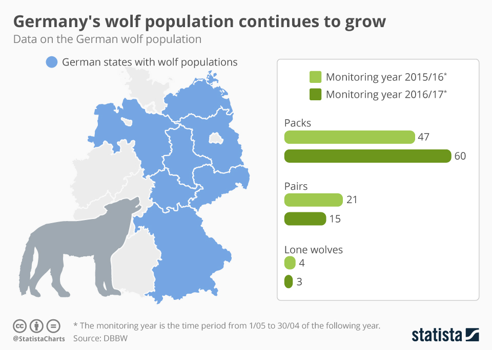 Infographic: Germany's wolf population continues to grow  | Statista