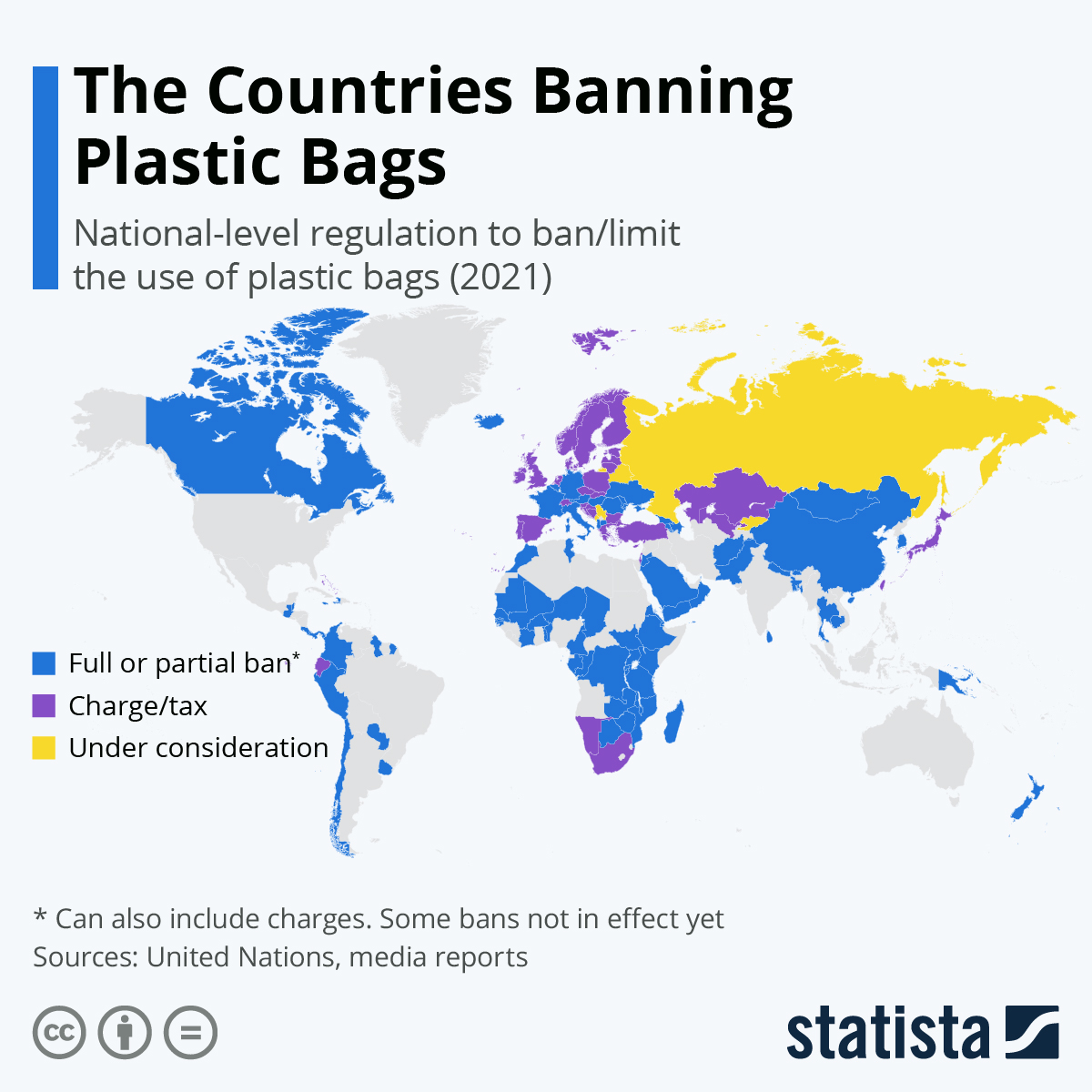 Infographic: The Countries Banning Plastic Bags | Statista
