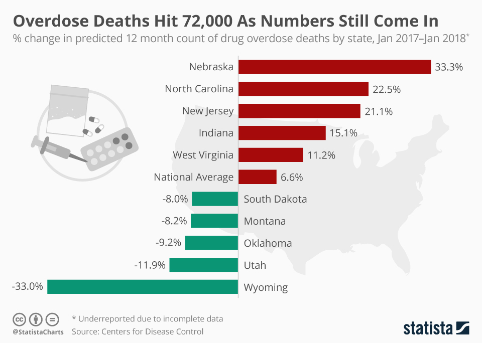 Infographic: Overdose Deaths Hit 72,000 As Numbers Still Come In | Statista