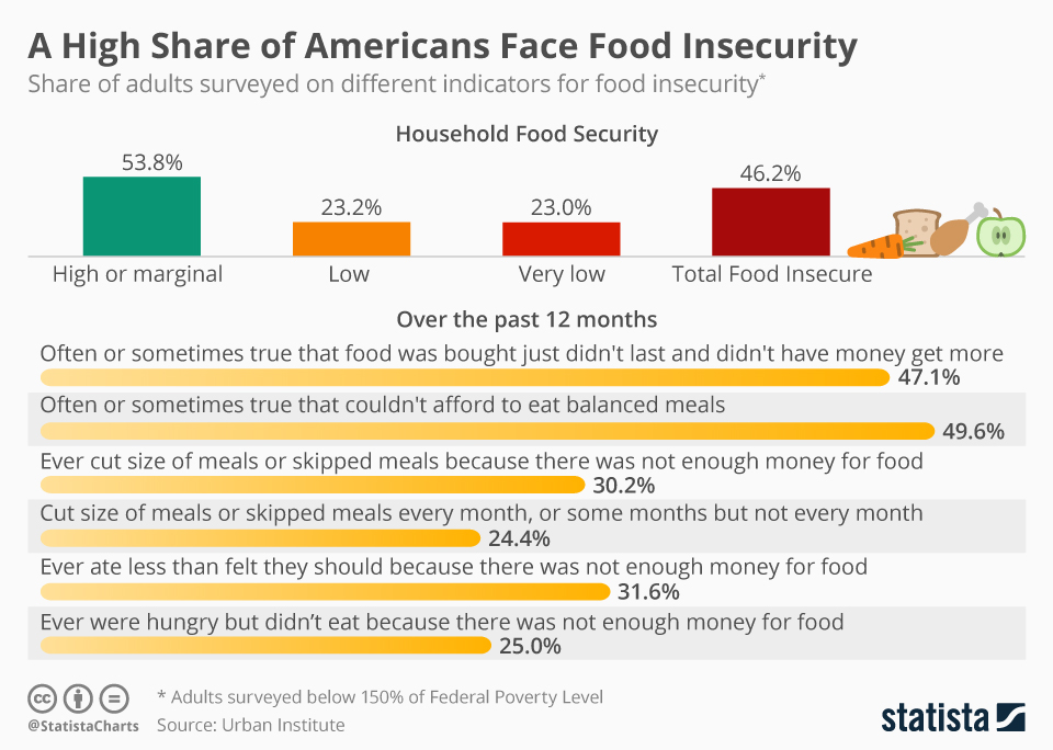 Infographic: Study Finds a High Share of Americans Face Food Insecurity | Statista