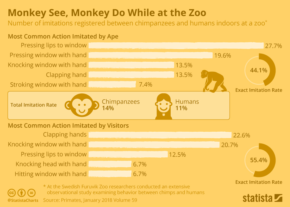 Infographic: Monkey See, Monkey Do While At the Zoo | Statista