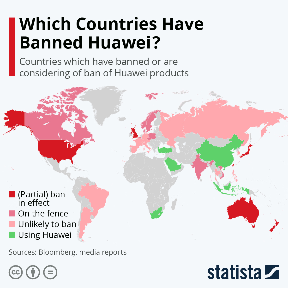 Infographic: Which Countries Have Banned Huawei? | Statista
