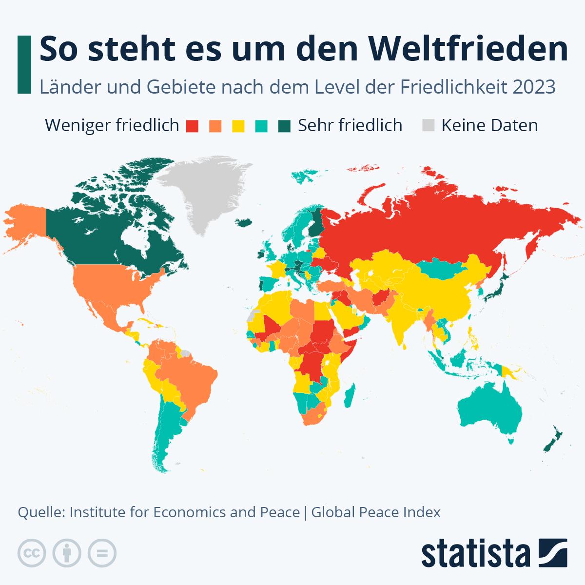 Infografik: So steht es um den Weltfrieden | Statista