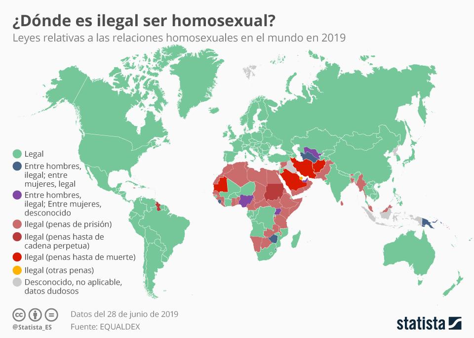 Infografía: Los países en los que todavía es ilegal ser homosexual | Statista