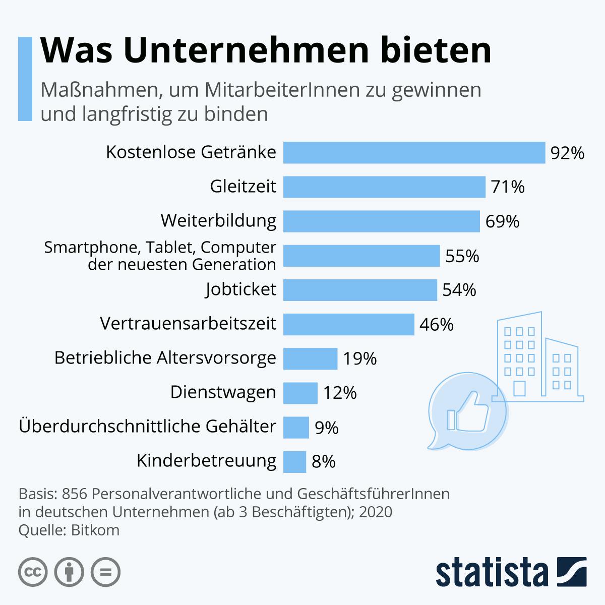Infografik: Was Unternehmen bieten | Statista