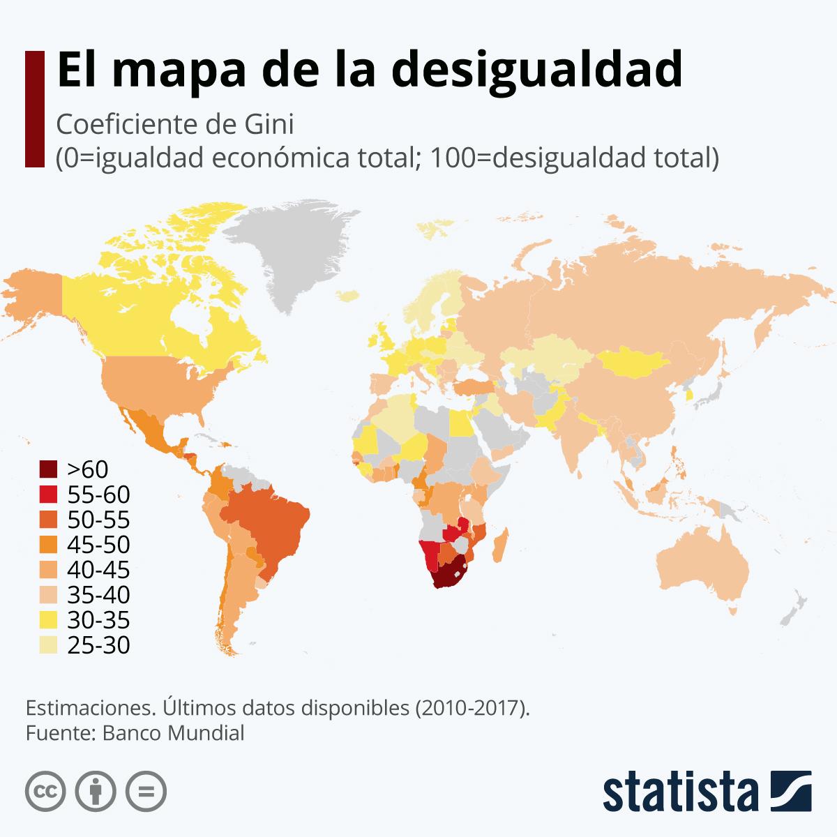 Infografía: El mapa de la desigualdad | Statista