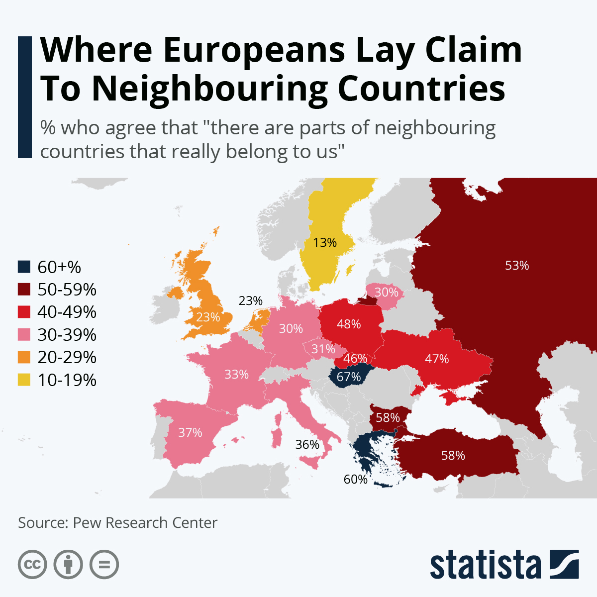 Infographic: Where Europeans Lay Claim To Neighbouring Countries | Statista