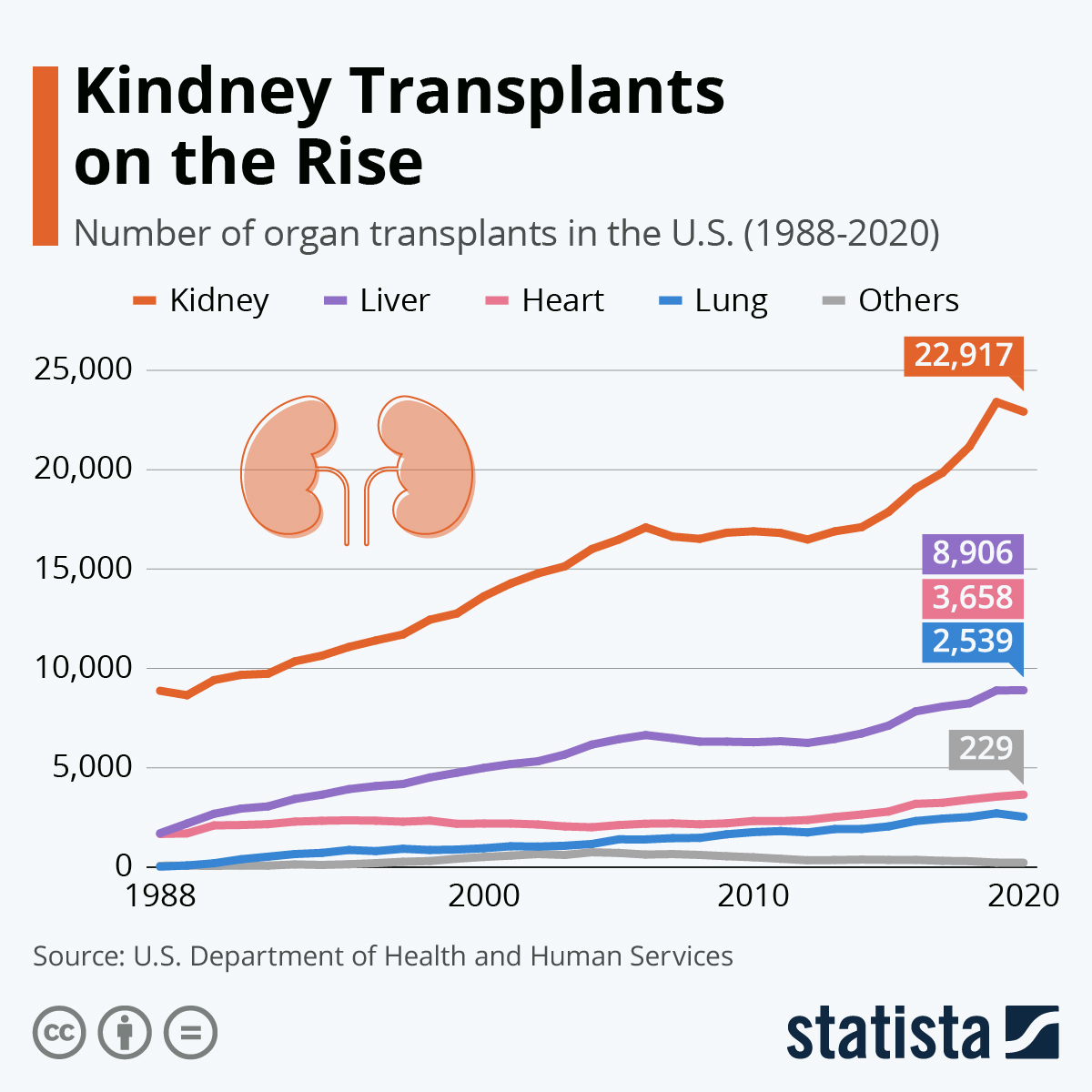 Infographic: Kidney Transplants on the Rise | Statista