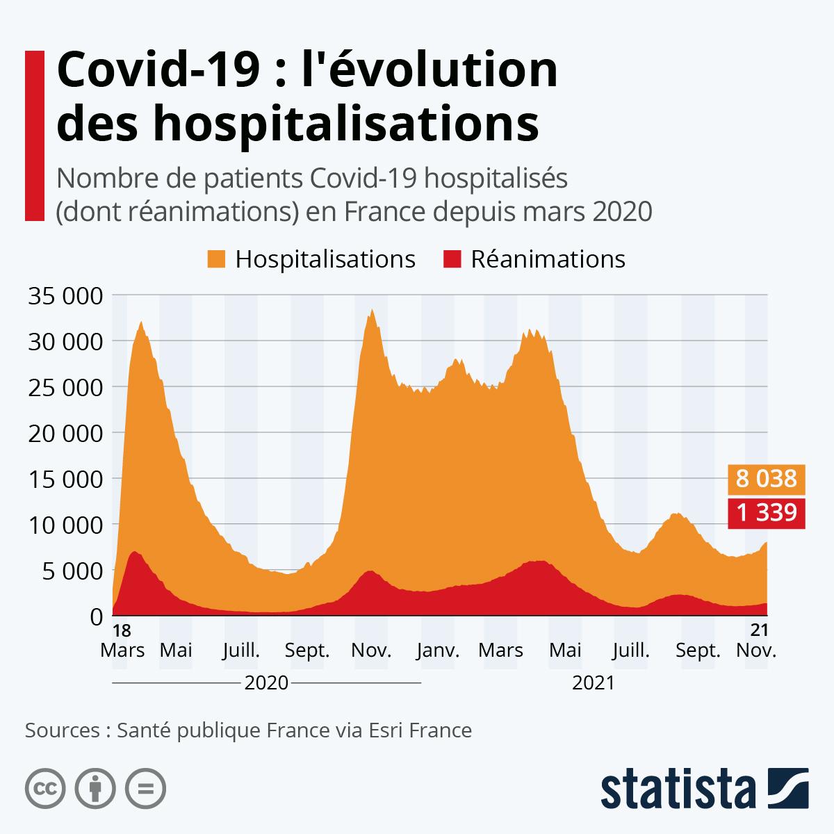 Infographie: Comment évolue la courbe des hospitalisations | Statista