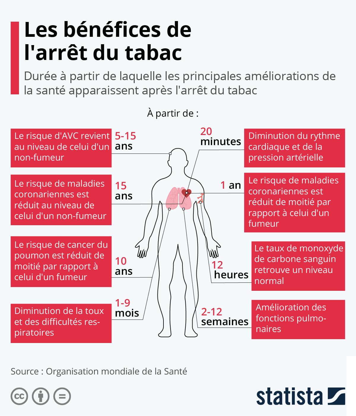 Infographie: Les bénéfices de l'arrêt du tabac | Statista