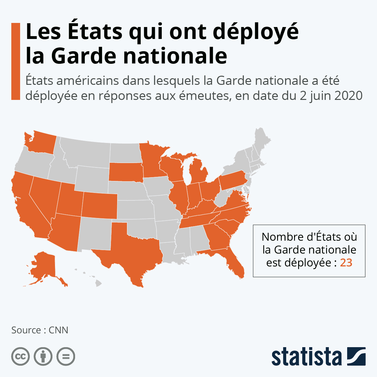 Infographie: Les Etats-Unis s'embrasent après la mort de Georges Floyd | Statista