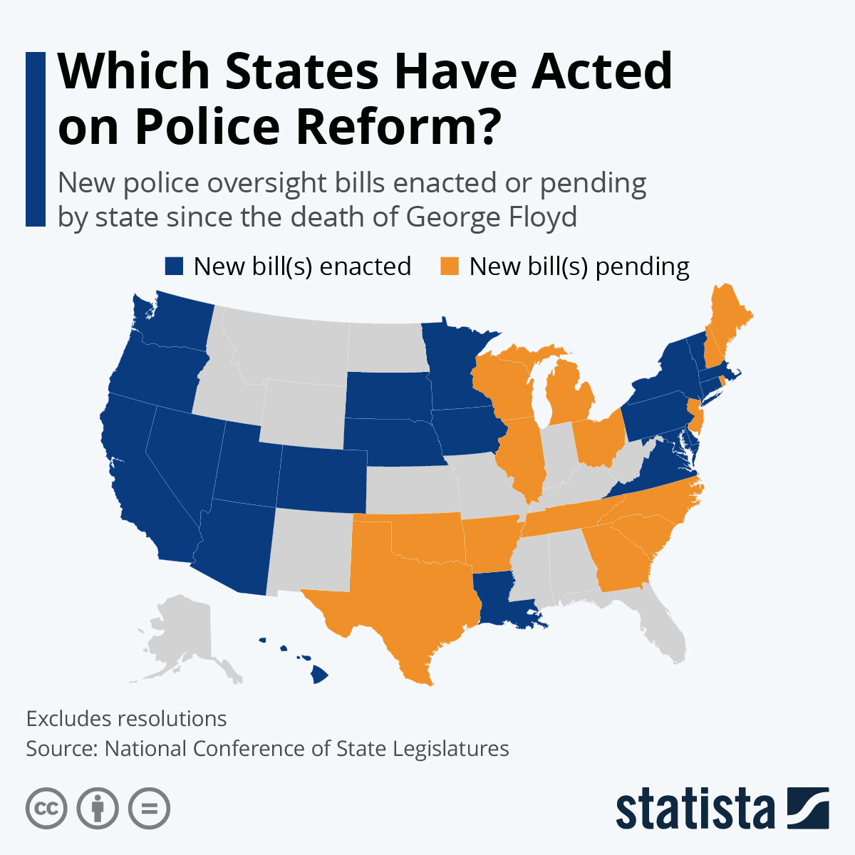 Infographic: Which States Have Acted on Police Reform | Statista