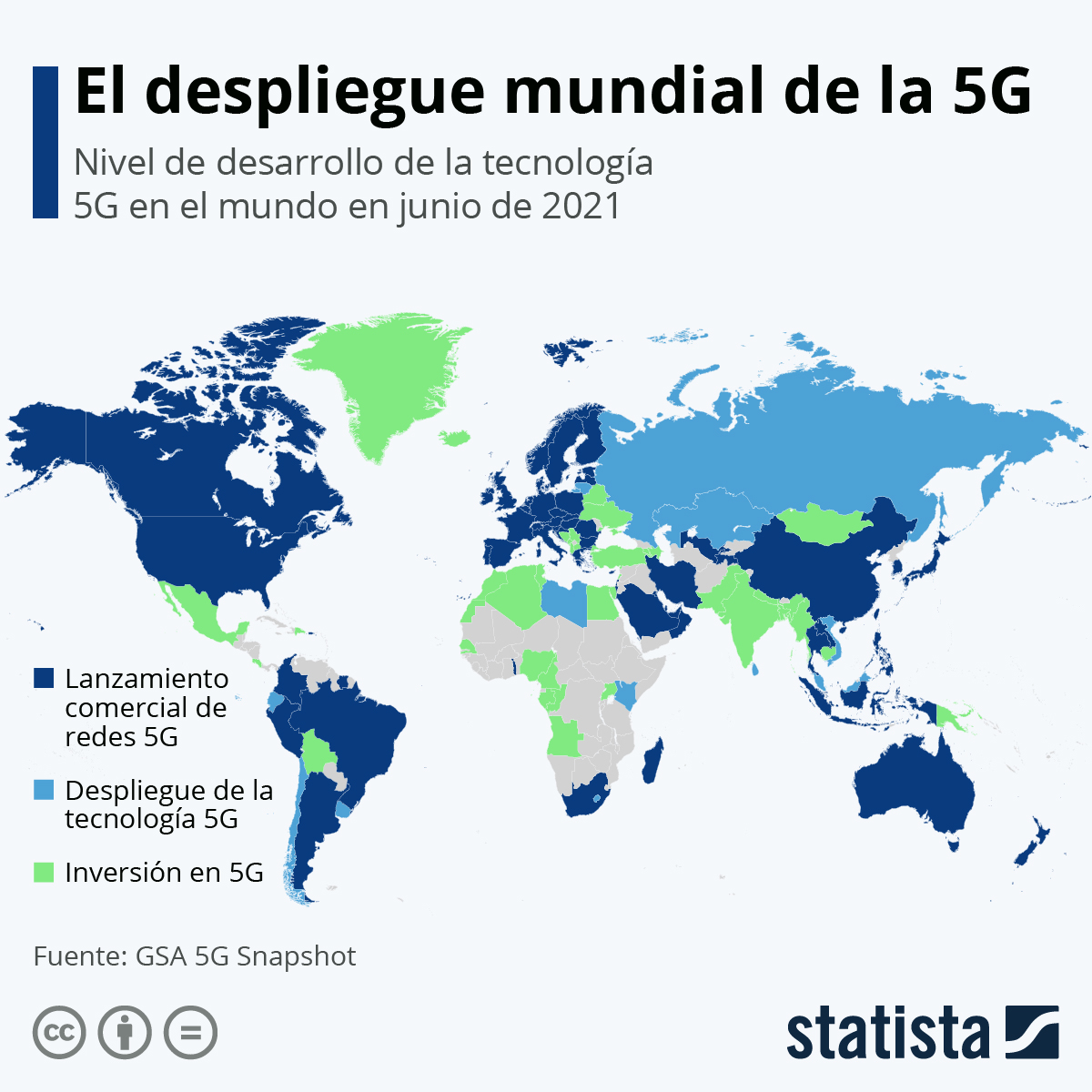 Infografía: El despliegue del 5G en el mundo | Statista