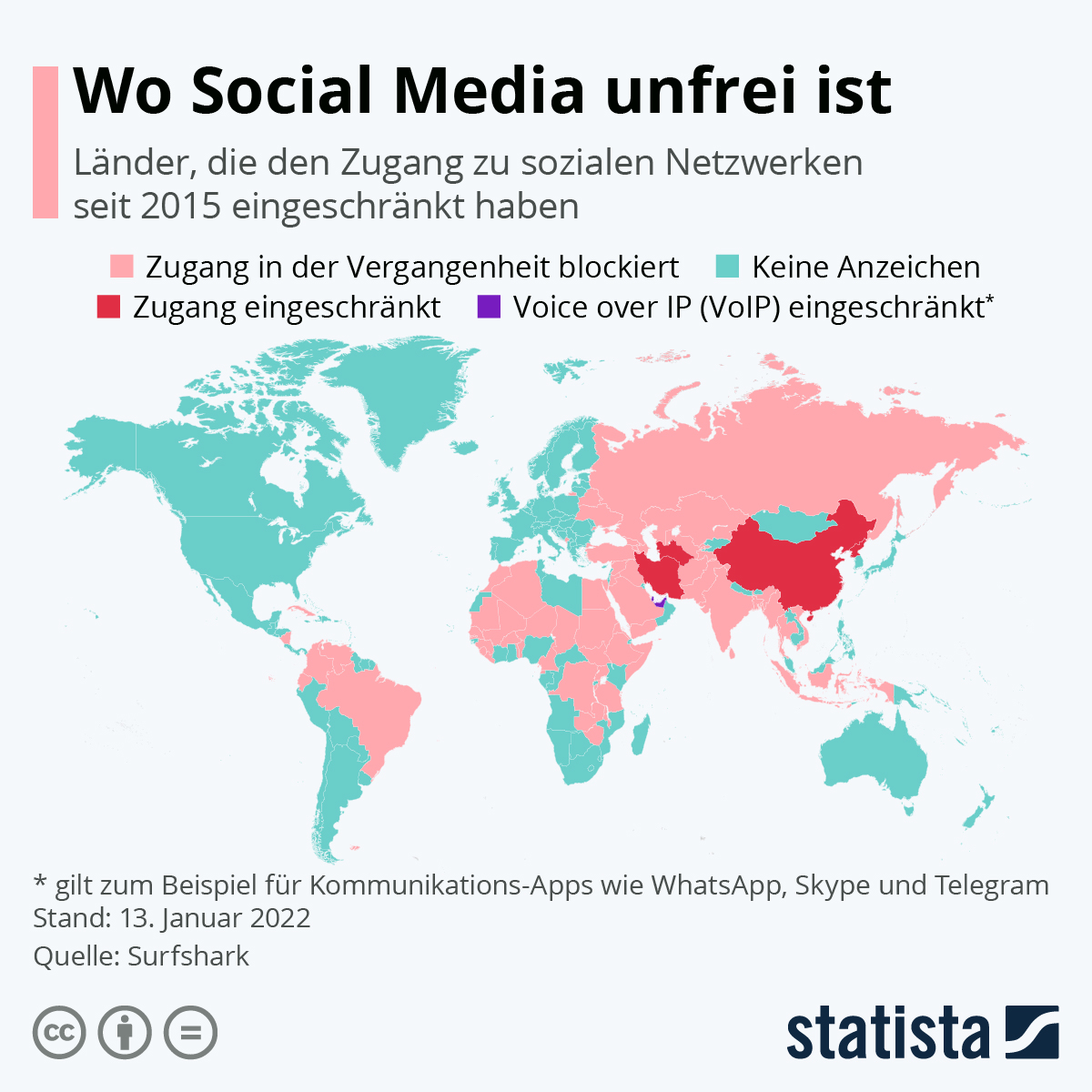 Infografik: Wo Social Media unfrei ist   Statista
