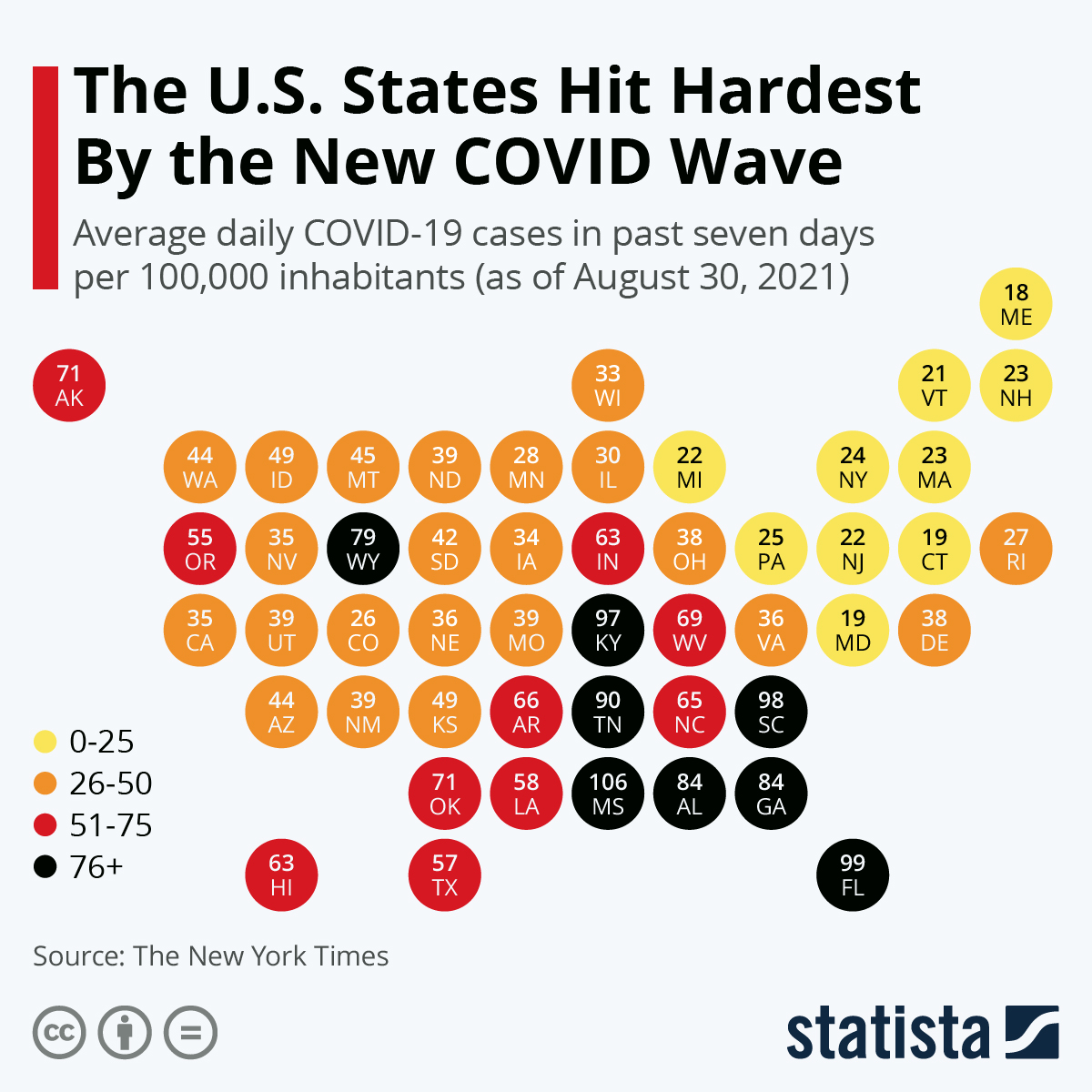 Infographic: The U.S. States Hit Hardest By Covid-19 | Statista