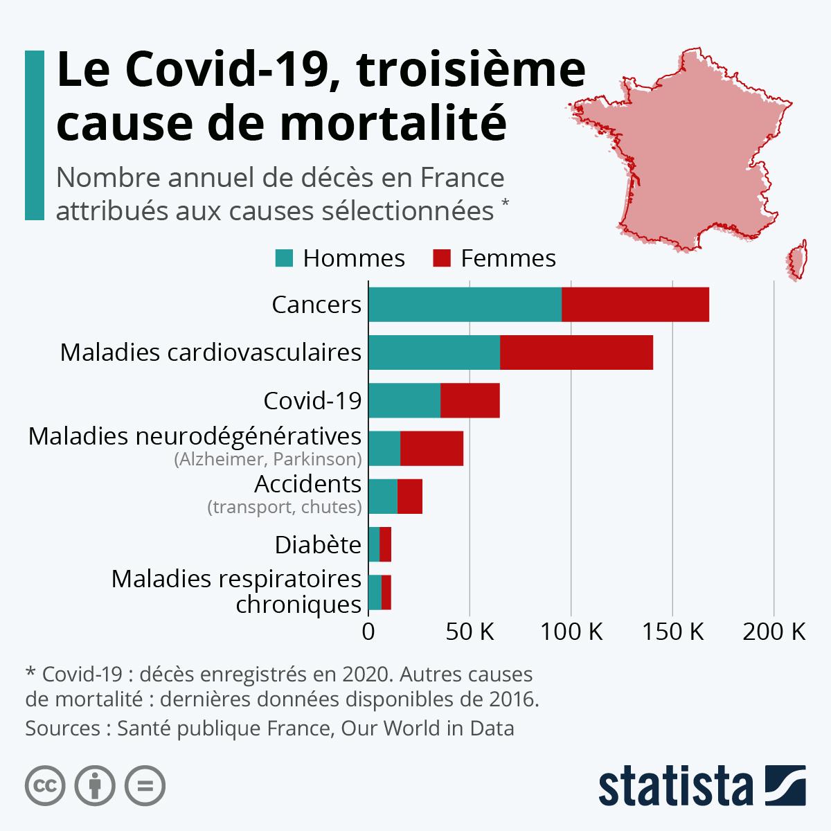 Infographie: Les principales causes de mortalité en France | Statista