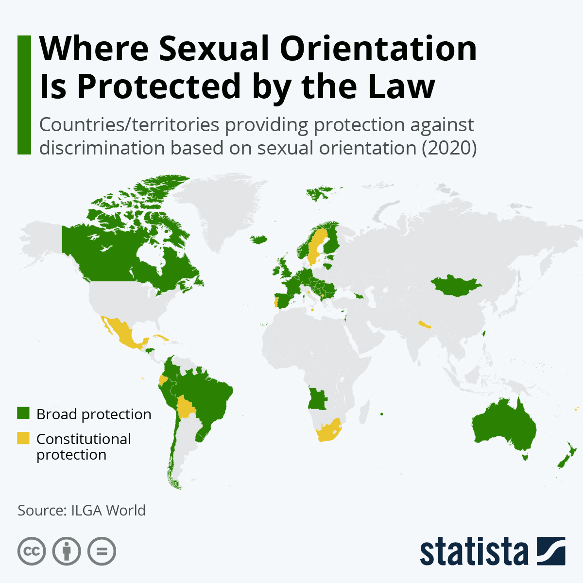 Infographic: Where Sexual Orientation Is Protected by the Law | Statista