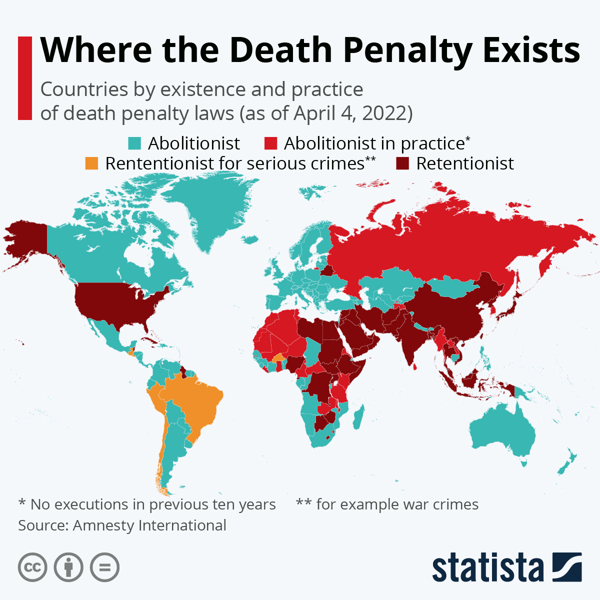 Infographic: Where the Death Penalty Exists   Statista