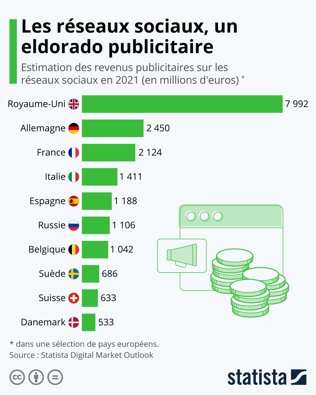 Infographie: Les réseaux sociaux, un eldorado publicitaire   Statista