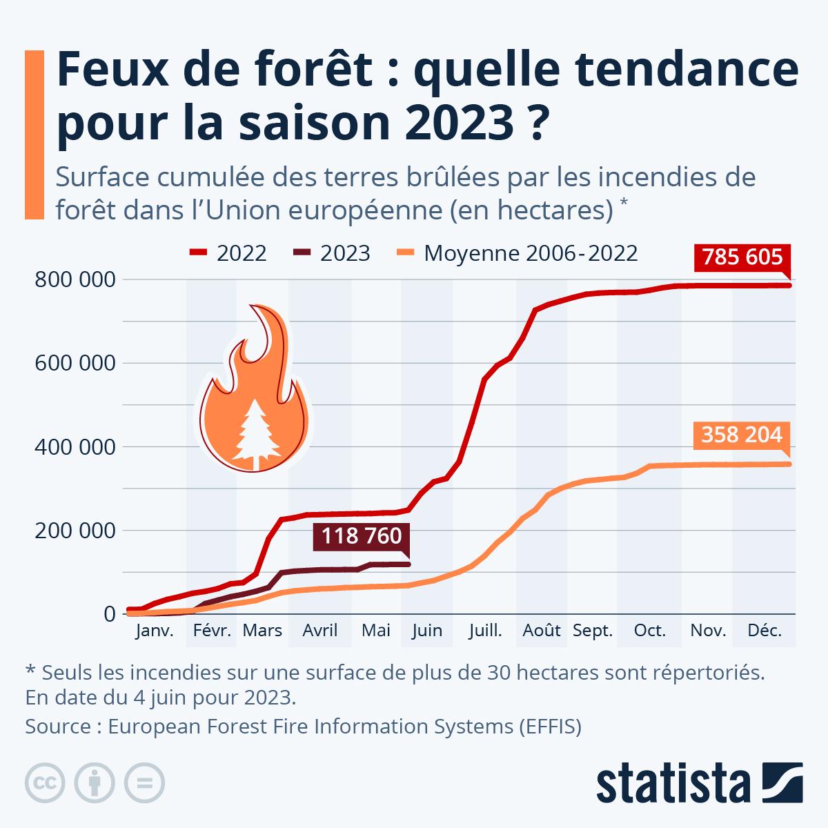 Infographie: 2021, l'été de tous les extrêmes   Statista