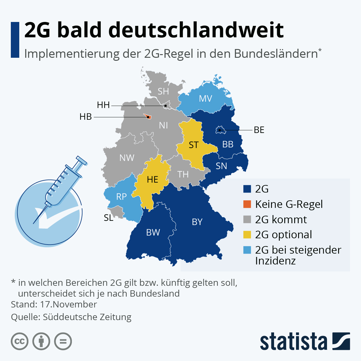 Infografik: Deutschland zwischen 3G und 2G gespalten   Statista