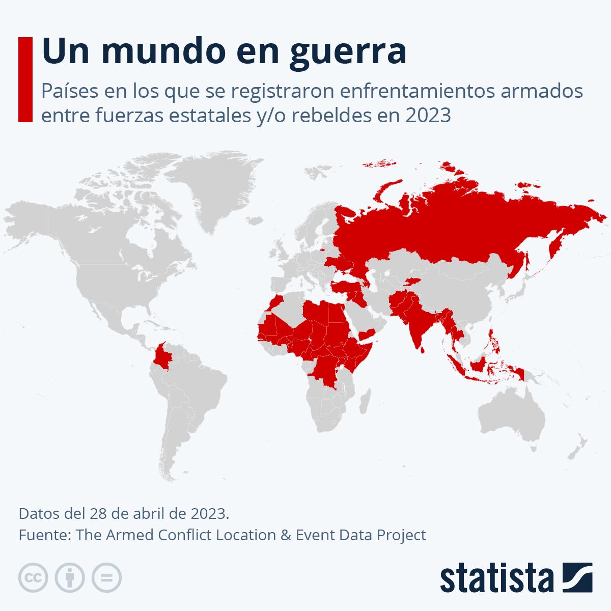 Infografía: ¿Qué países registran enfrentamientos armados en 2021? | Statista