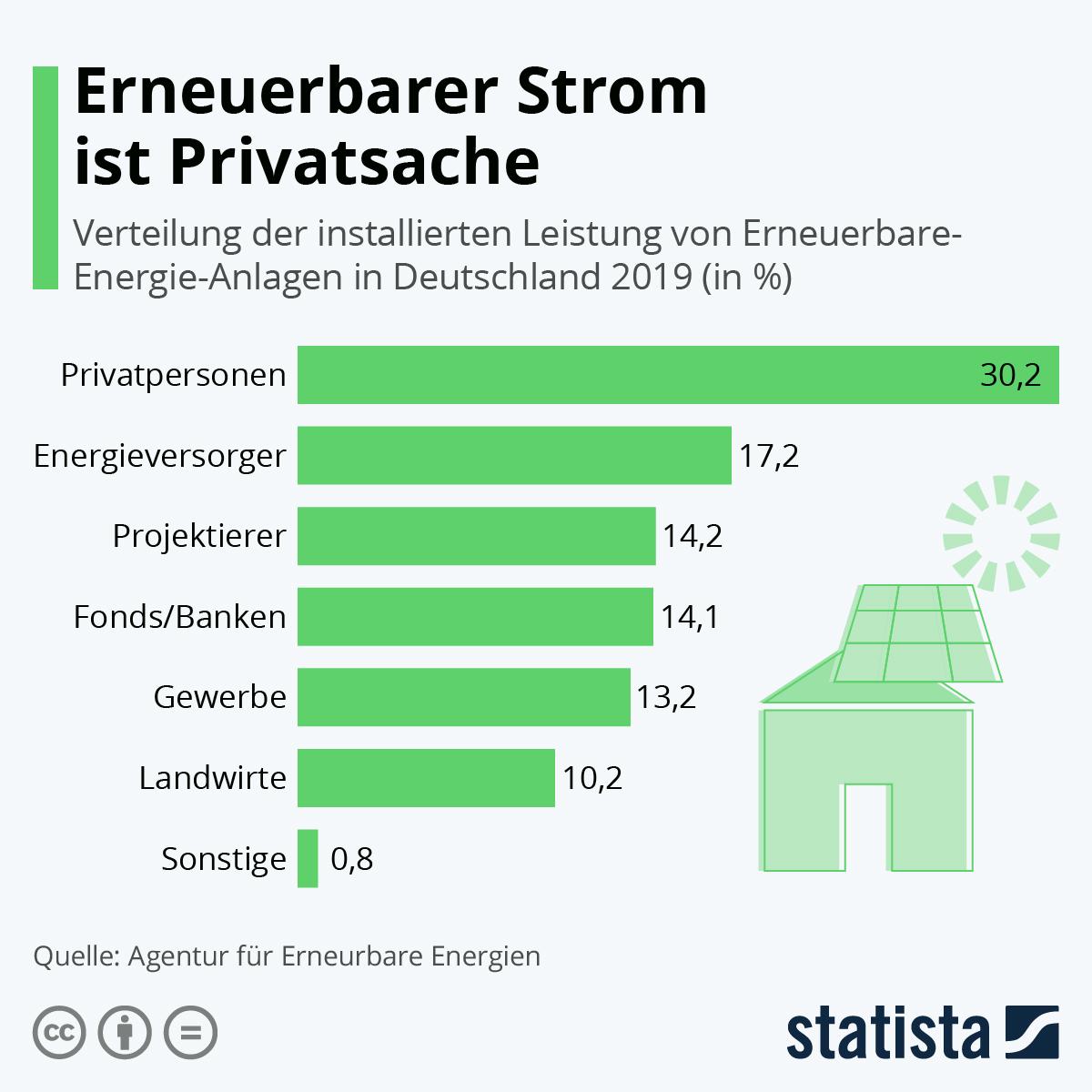 Erneuerbarer Strom ist Privatsache | Statista