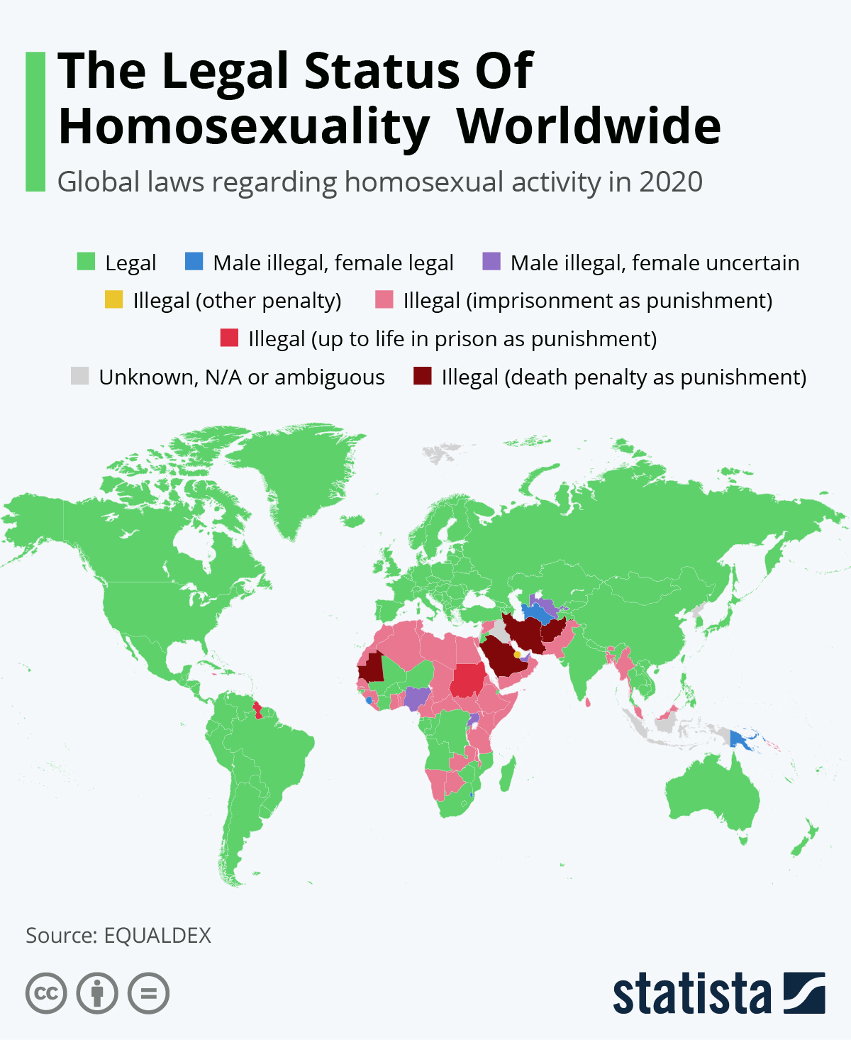 Infographic: The Legal Status Of Homosexuality Worldwide | Statista