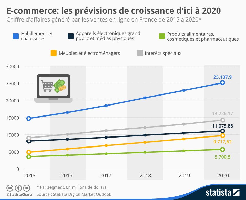 Infographie: L'e-commerce en France : un avenir radieux ? | Statista