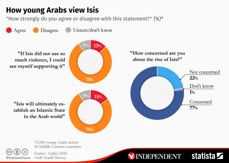 Infographic: How young Arabs view Isis | Statista