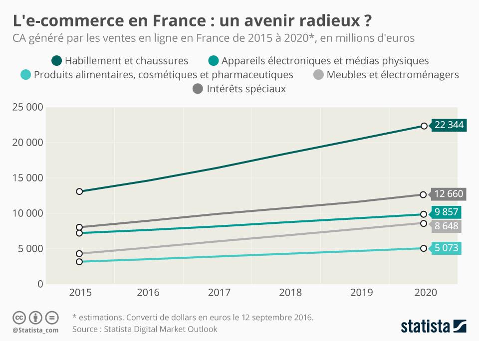 Infographie: L'e-commerce en France : un avenir radieux ?   Statista