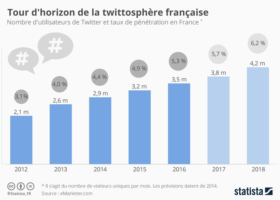 Infographie: Tour d'horizon de la twittosphère française    Statista