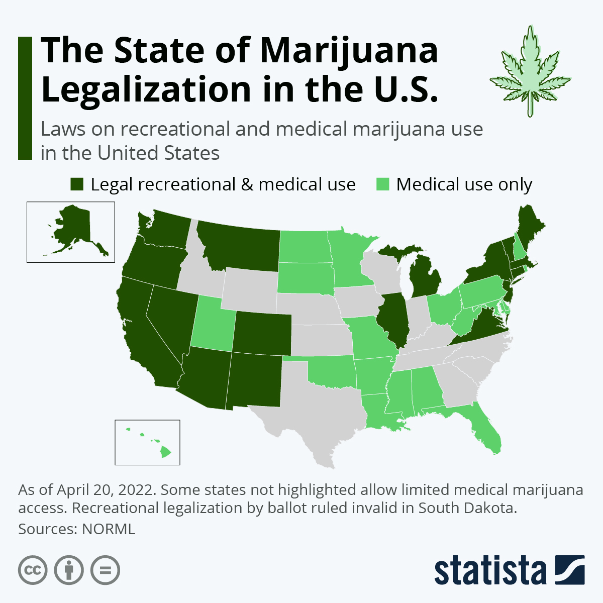 Infographic: The States Where It's Legal To Smoke Marijuana | Statista