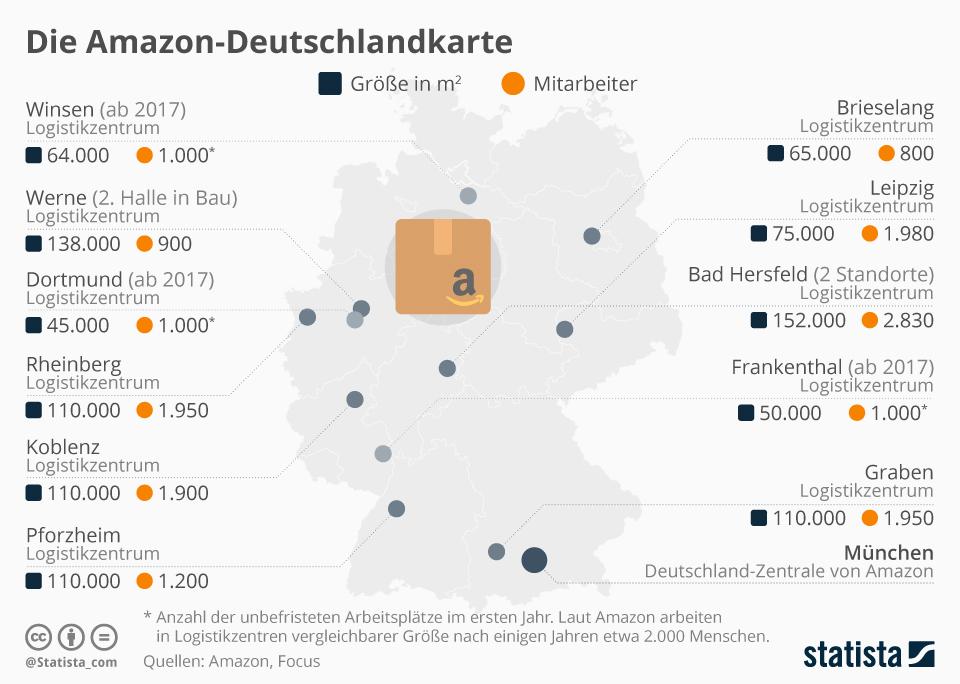 Infografik: Die Amazon-Deutschlandkarte | Statista