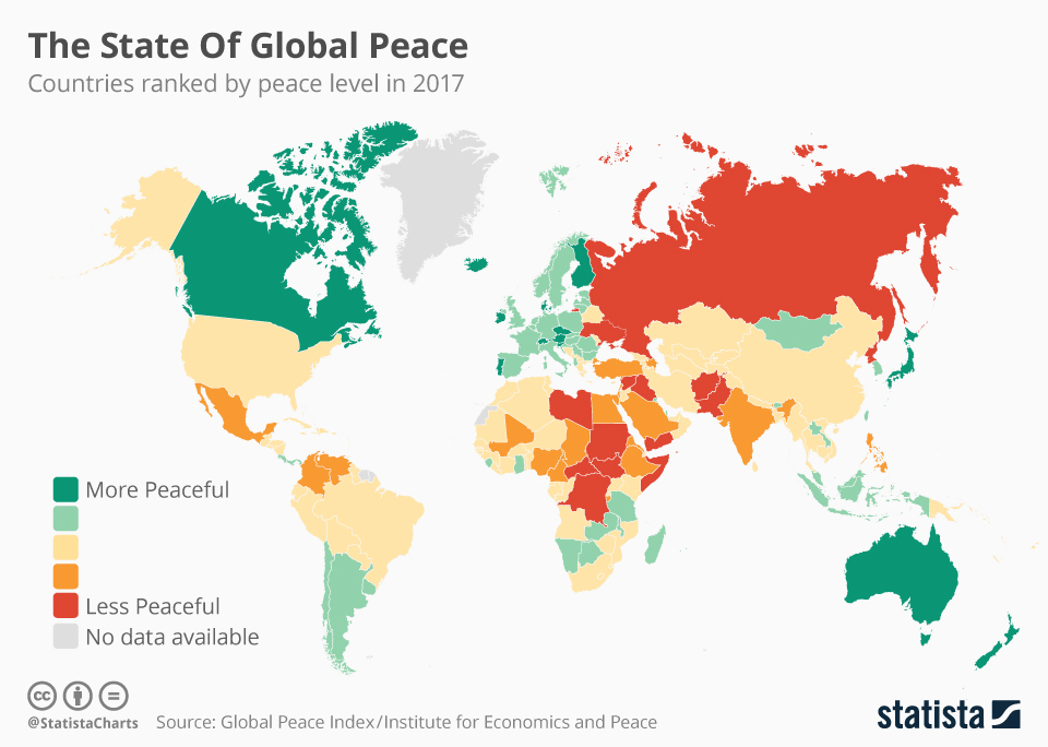 Infographic: The State of Global Peace | Statista