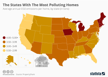 Infographic - The U.S. States With The Most Polluting Homes