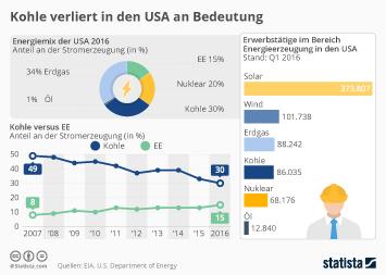 Infografik: Kohle verliert in den USA an Bedeutung | Statista