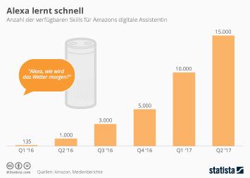 Infografik - verfügbare Skills für Amazons digitale Assistentin Alexa